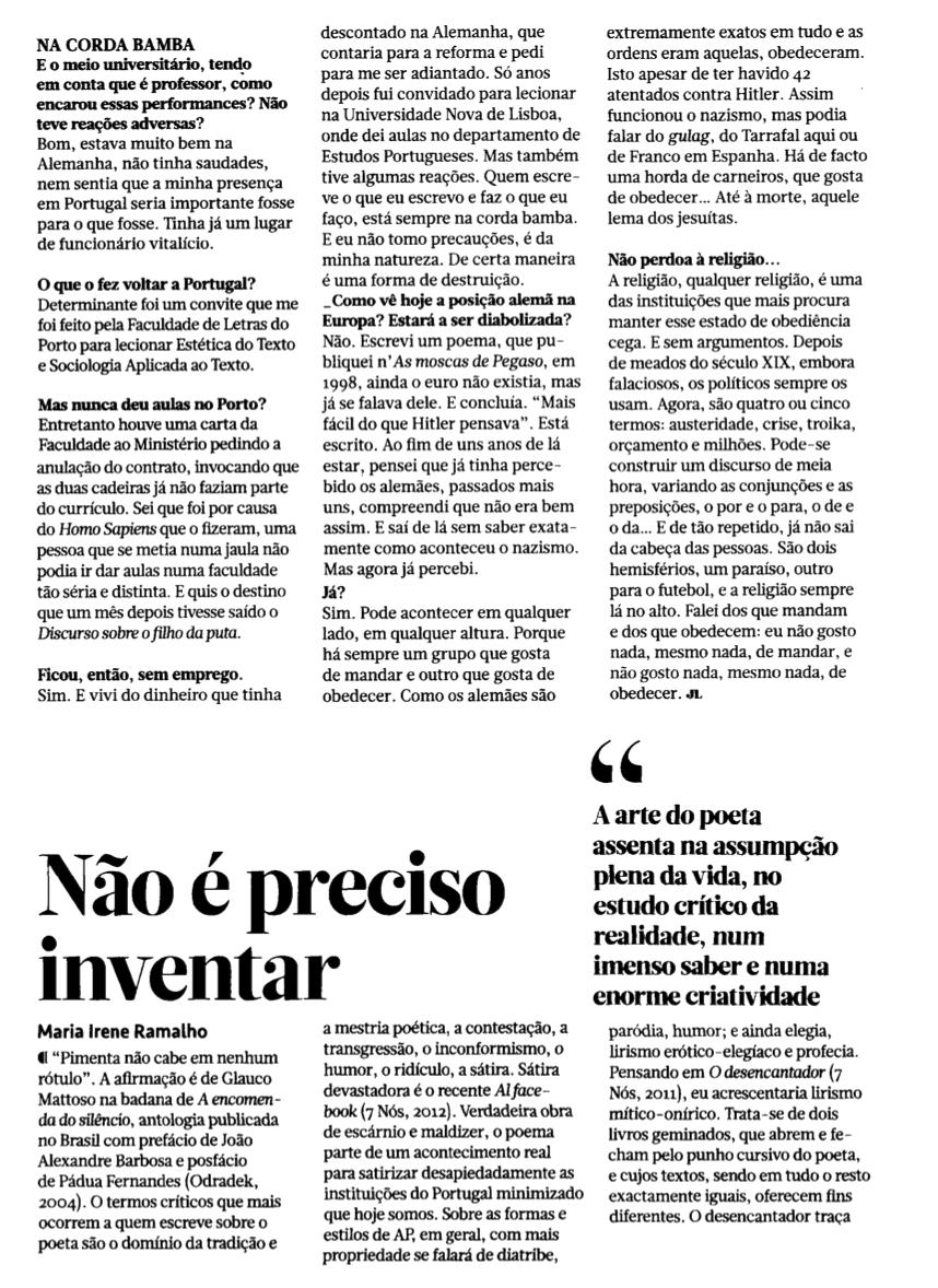 De nada no Jornal de Letras [5]