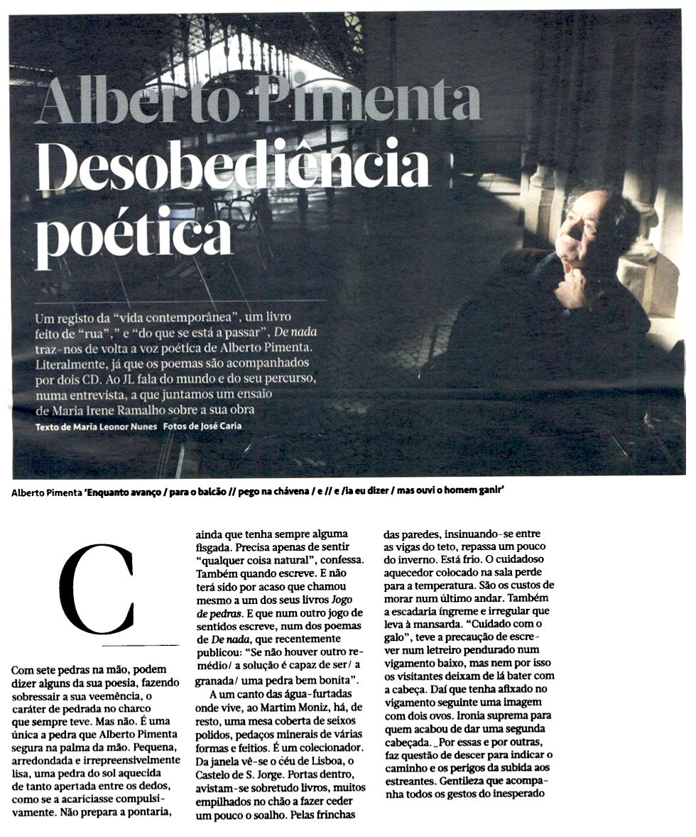 De nada no Jornal de Letras [1]