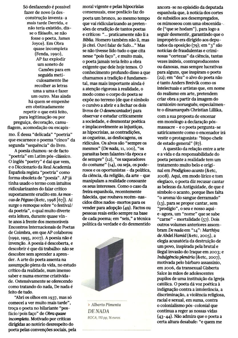 De nada no Jornal de Letras [6]