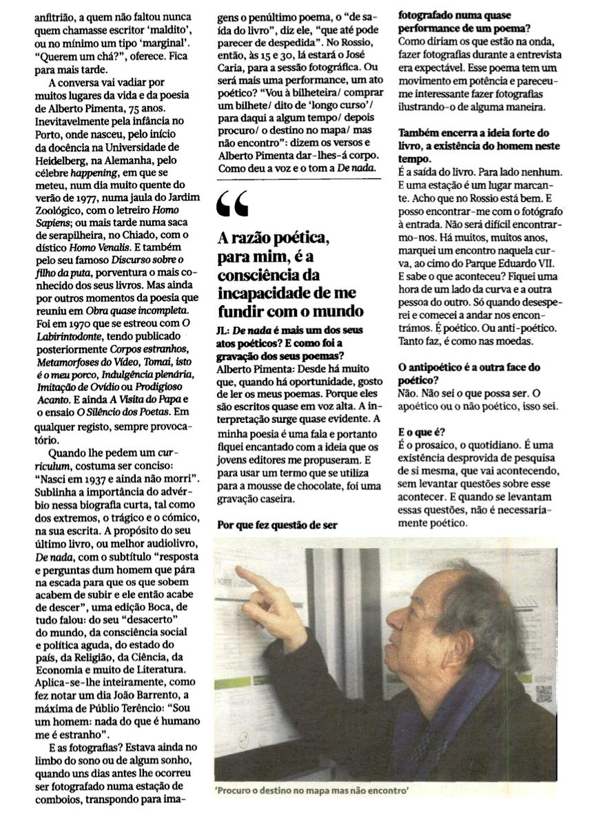 De nada no Jornal de Letras [2]