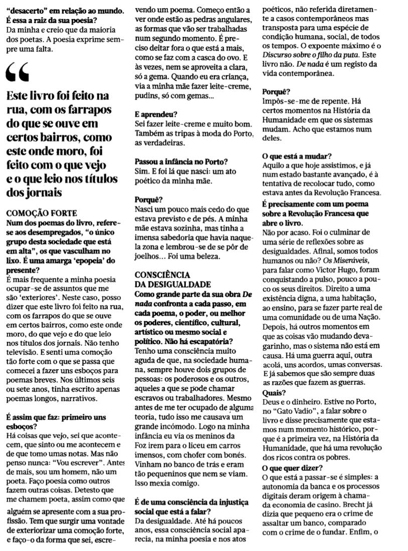 De nada no Jornal de Letras [3]