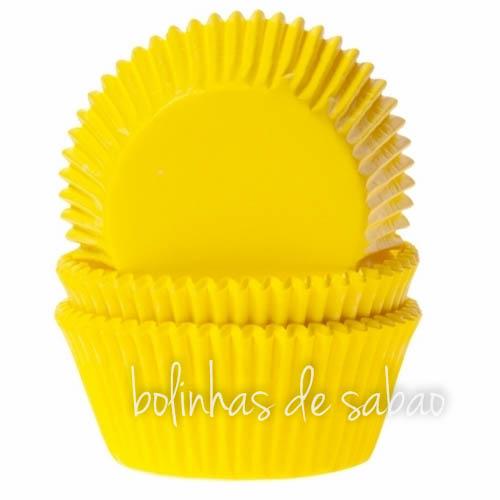 Formas Cupcakes Lisos 60 unidades - Amarelo