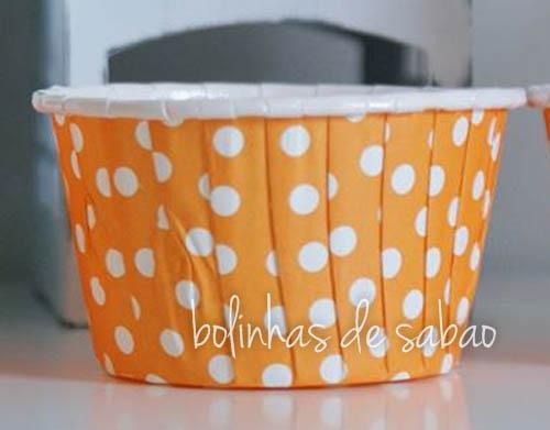 Cupcakes Rigidas Bolas 10 unidades - Laranja