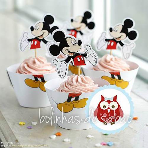 Cupcakes Disney 5 unidades - Mickey