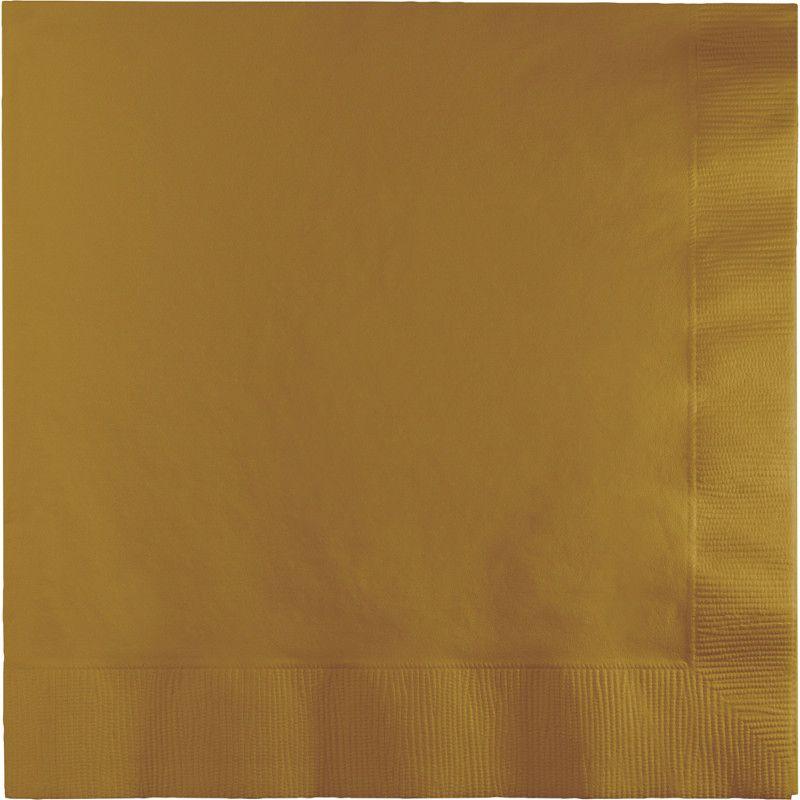 Guardanapos Lisos Dourado 33 cm - 50 unidades