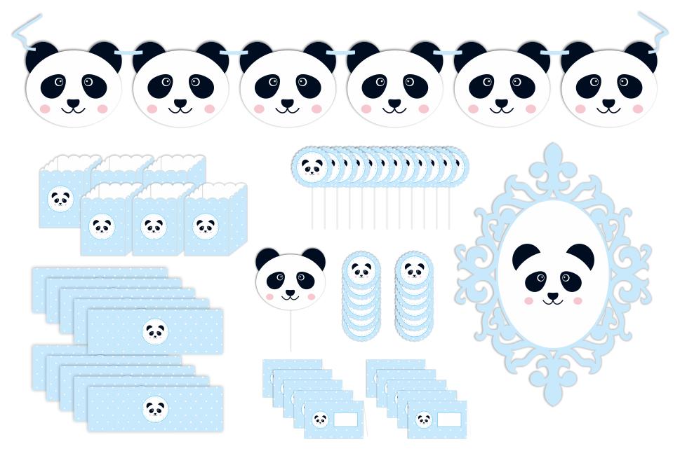 Kit Panda - Azul