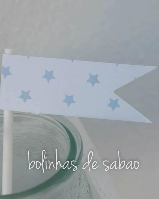 Toppers Estrela 5 unidades - Azul