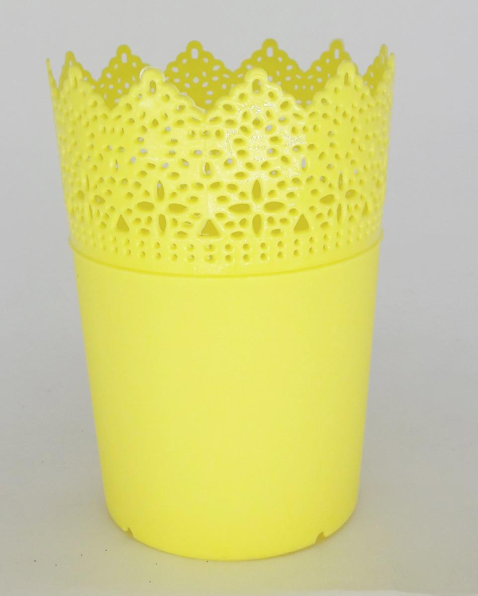 Vaso de Plástico Amarelo- Pequeno