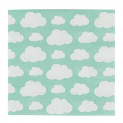 Guardanapos Nuvens Menta- 20 unidades