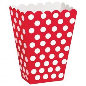Caixas de Pipocas 8 unidades - Vermelho Tamanho M