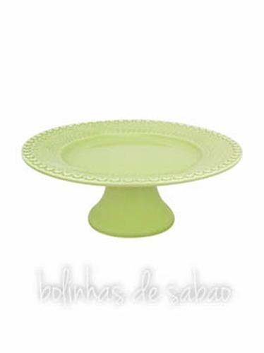 Prato de Pé 28 cm - Verde Alface