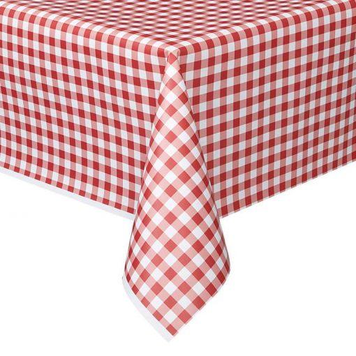 Toalha Xadrez Vermelha e Branca