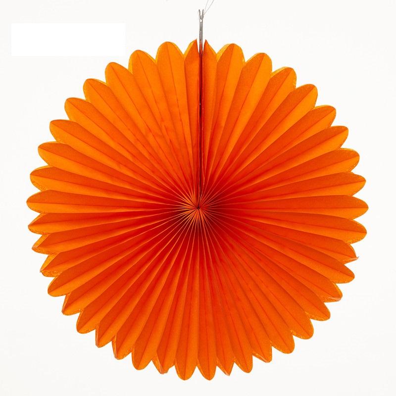 Roseta de Papel 50 cm - Laranja