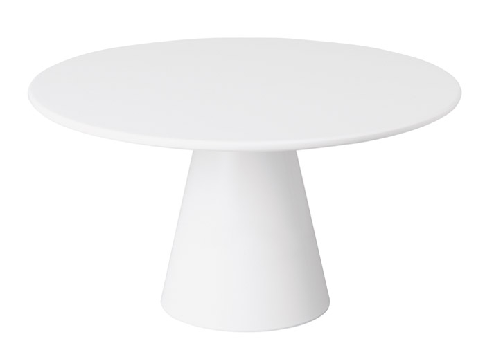 Prato de Pé Melamina - Branco - 36 cm