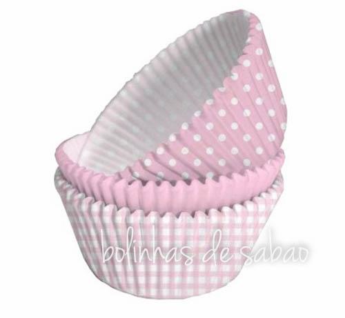 Cupcakes 75 unidades - Sortidos Rosa