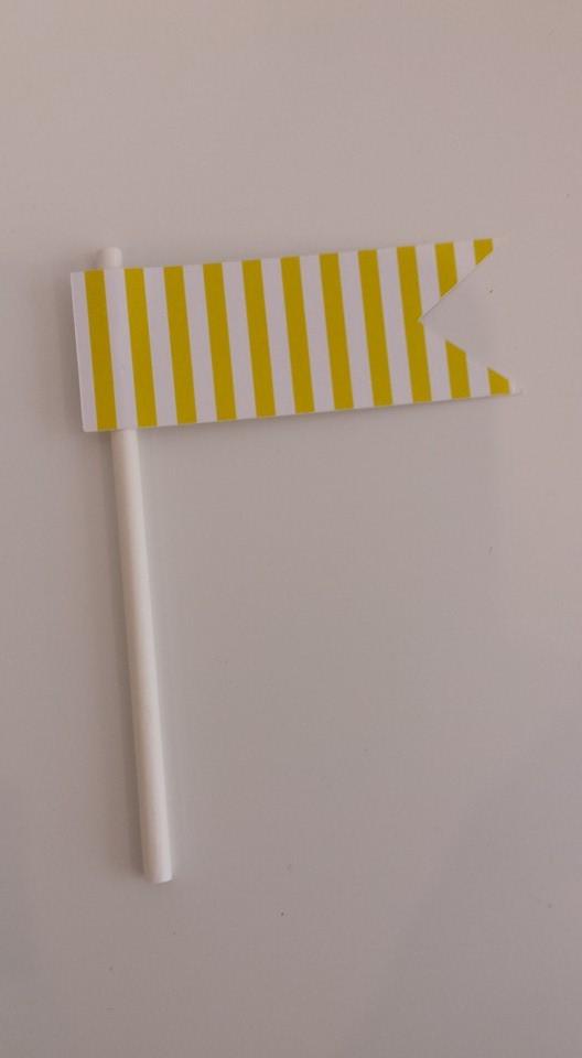 Toppers Riscas 5 unidades - Amarelo