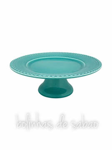Prato de Pé 28 cm - Verde Água