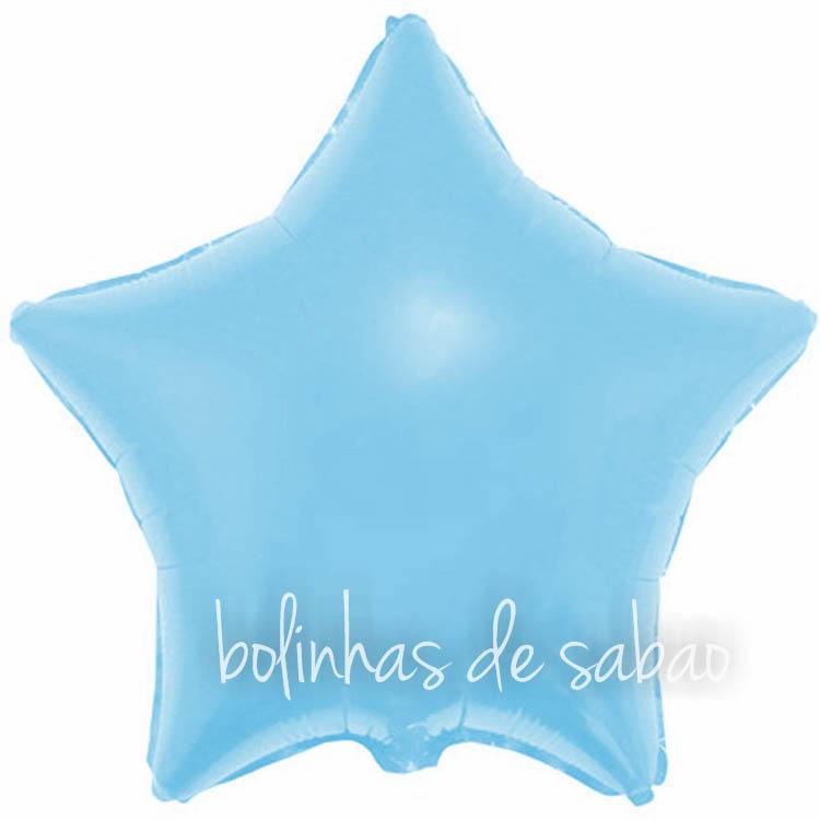 """Balão Foil Estrela Azul - 18 """""""