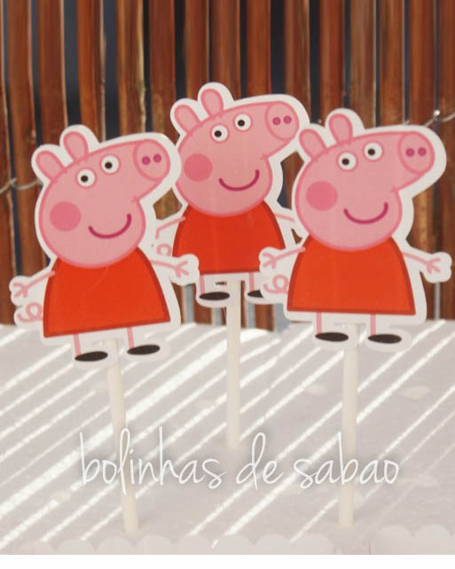 Toppers 5 unidades - Peppa