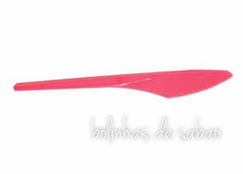 Facas Plástico 8 unidades - Rosa