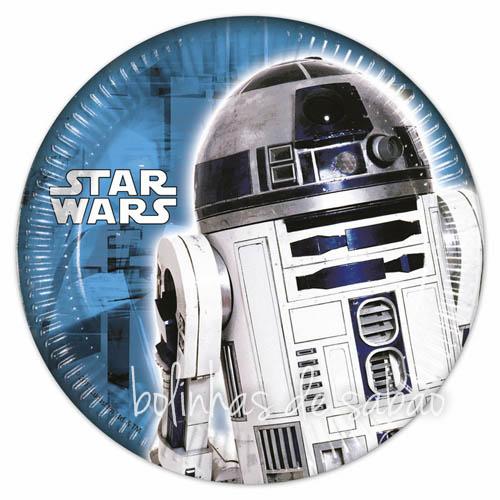 Pratos 8 unidades 18 cm - Star Wars