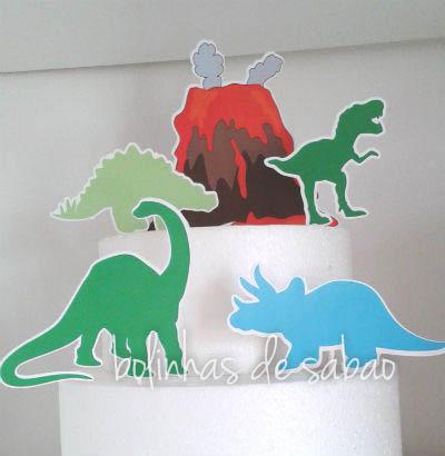 Topos de Bolo - Dinossauros