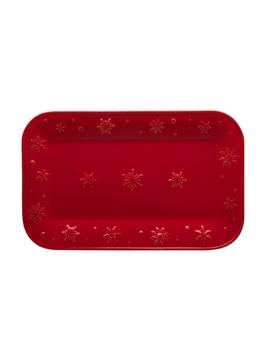 Travessa 34.5 Snowflakes Vermelho