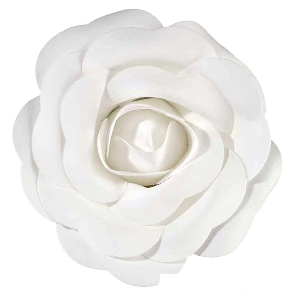 Flor Decorativa Média Branca