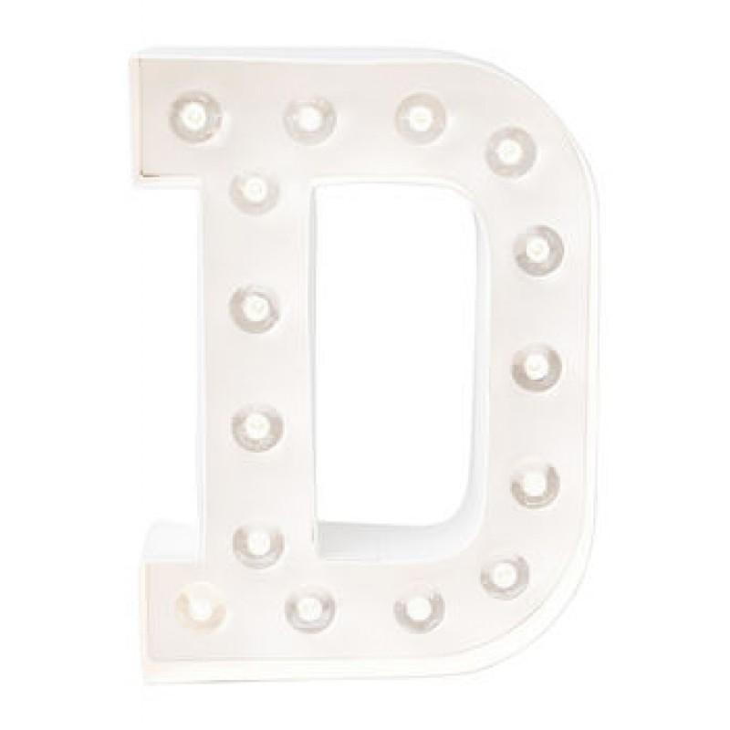 Letra D Luminosa