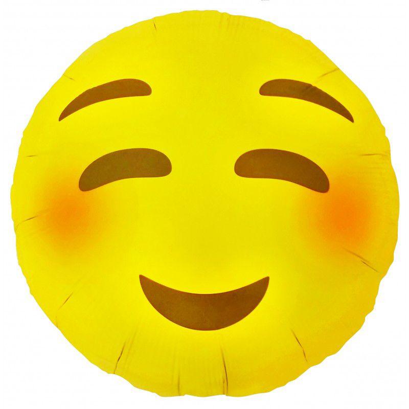 "Balão Foil 18"" Emoji Blushing"