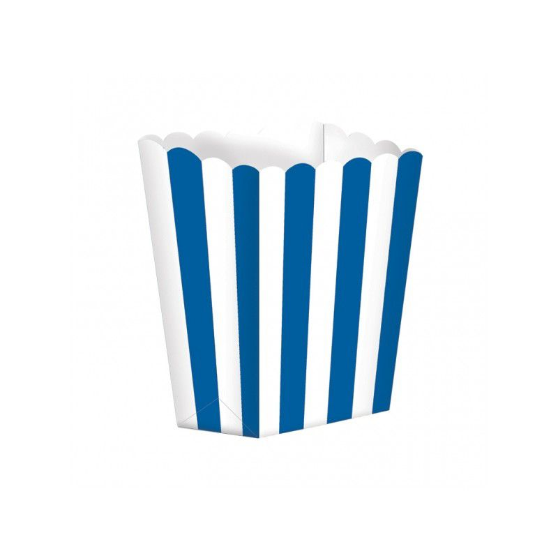 Caixas de Pipocas 5 unidades - Azul Escuro Tamanho S
