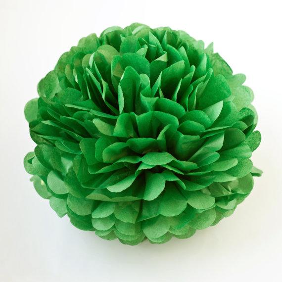 Pompom de Papel 36 cm - Verde Menta Escuro