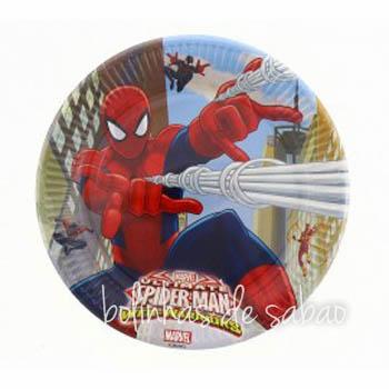 Pratos 8 unidades 23 cm - Spiderman