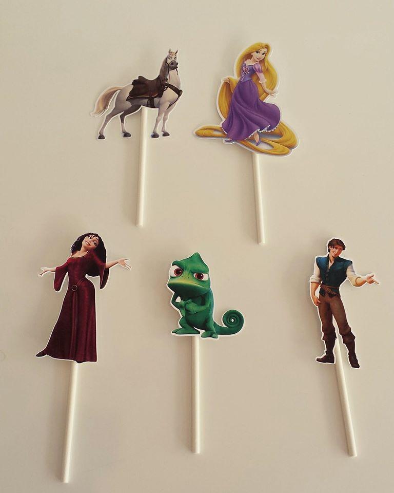 Toppers Rapunzel Recortados- 5 unidades