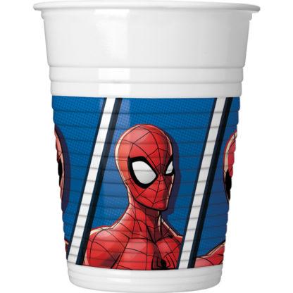 Copos 8 unidades - Spiderman