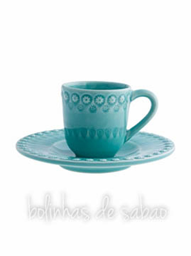 Chávenas de Café - Verde Água