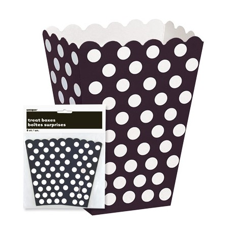 Caixas de Pipocas 8 unidades - Preto - Tamanho M