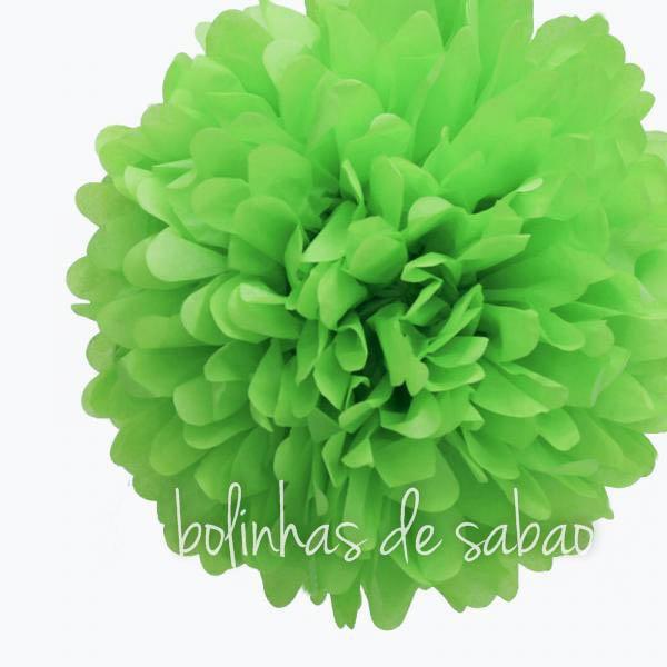 Pompom de Papel 36 cm - Verde