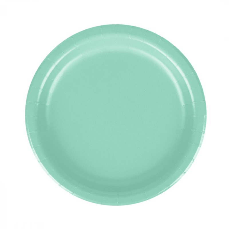 Pratos Verde Menta - 8 unidades