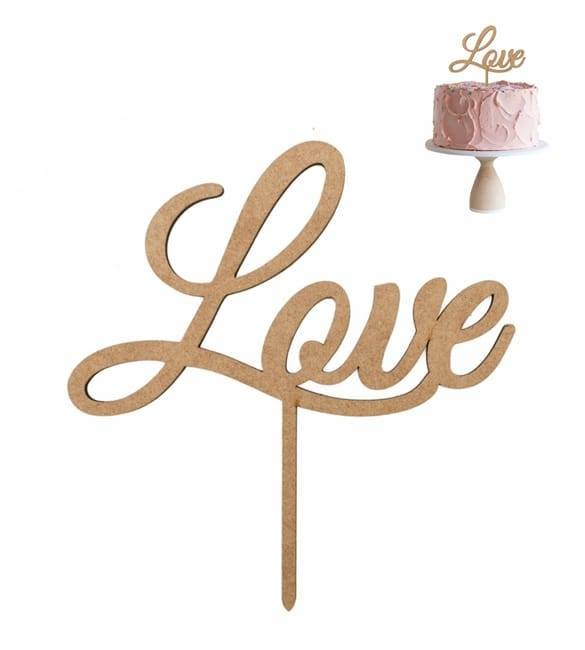 Topo de Bolo Love