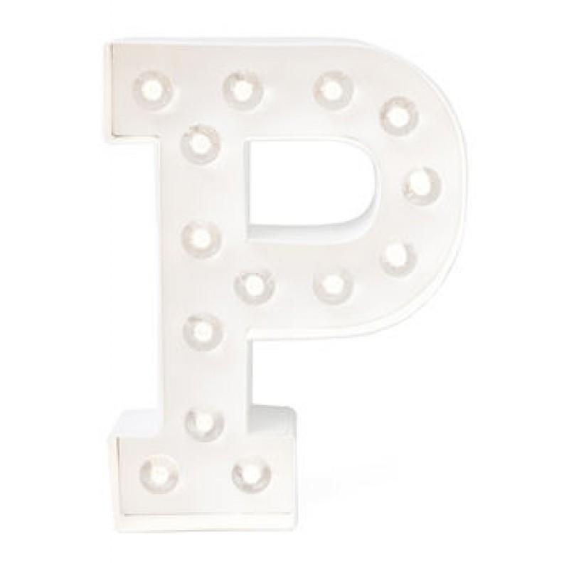 Letra P Luminosa