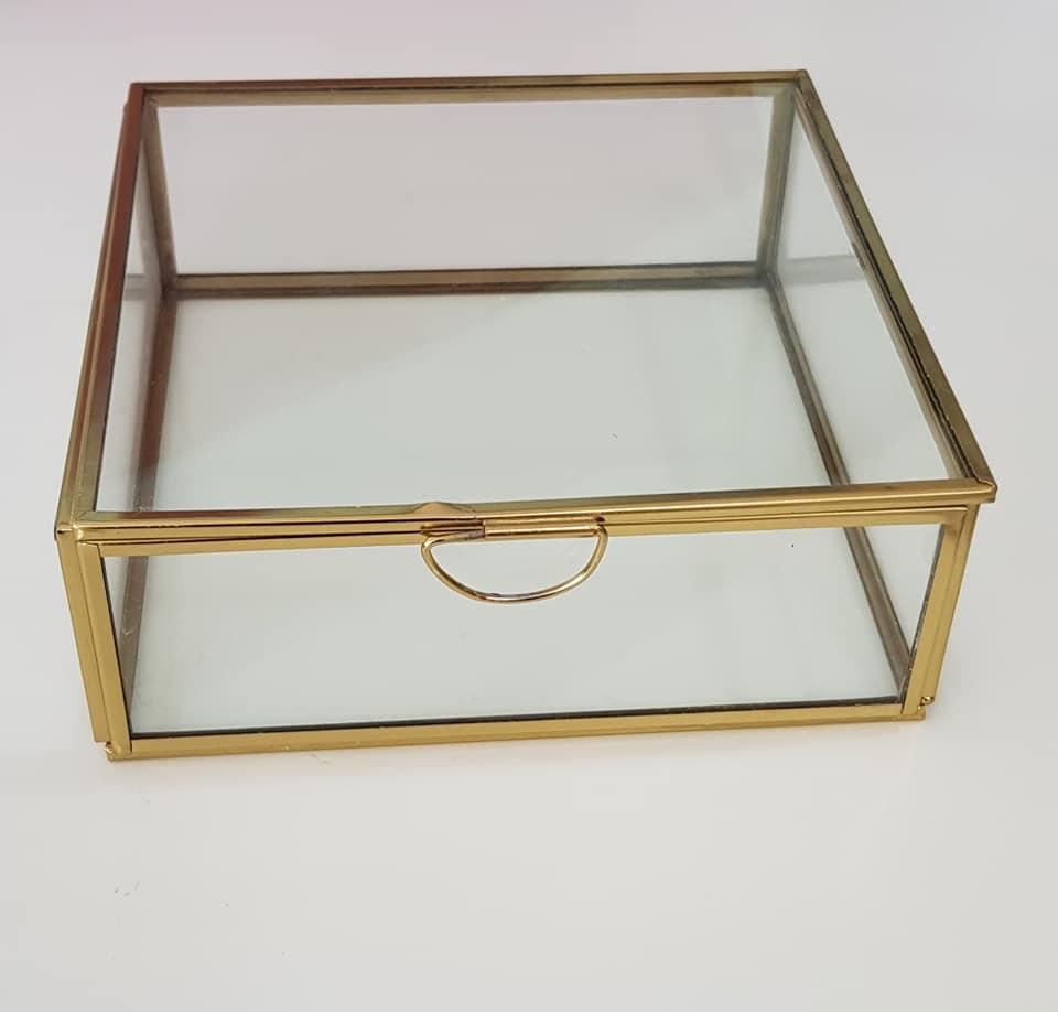 Caixa Metal e Vidro Quadrada