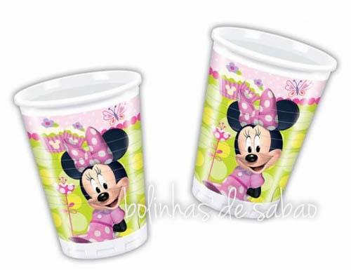 Copos Disney 8 unidades - Minnie Verde