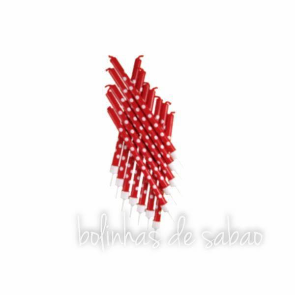 Velas Bolas 12 unidades - Vermelho