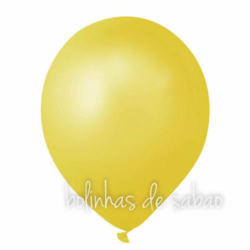 Balões Lisos 10 unidades - Amarelo