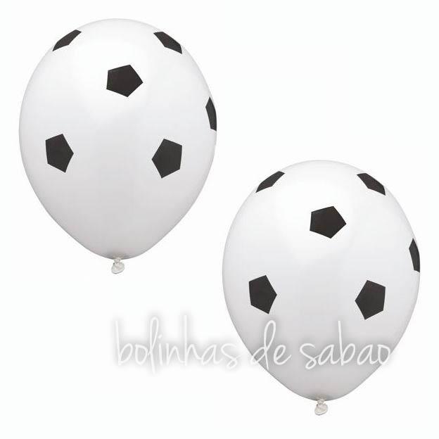 Balões Futebol - 10 unidades