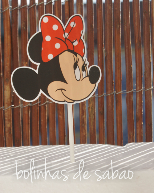 Toppers Disney 5 unidades - Minnie Recortada