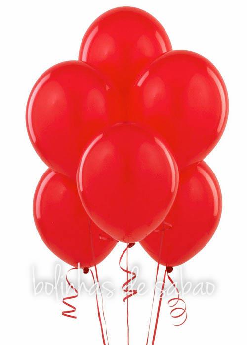 Balões Lisos 10 unidades - Vermelho