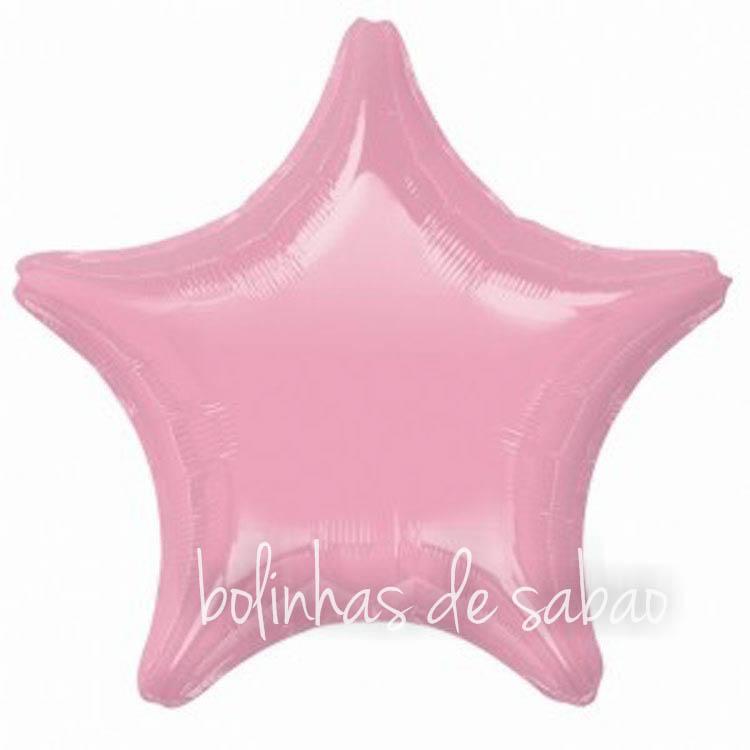"""Balão Foil Estrela Rosa - 18 """""""