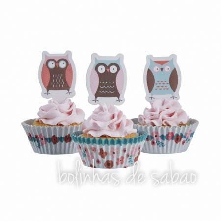 Cupcakes Flores - 50 unidades